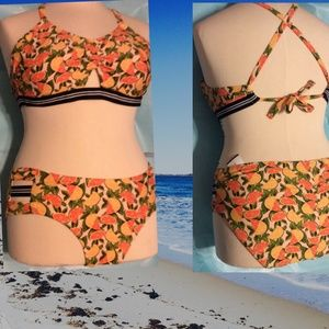 Xhilaration Fruit Bikini Plus Size 18W Swim NWOT